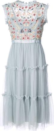 Embroidered Dress Women Nylonpolyester 4, Blue