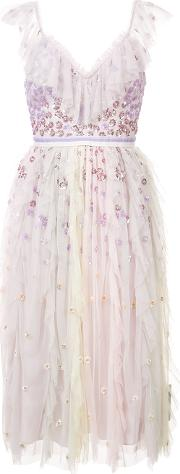 Fringed Tulle Dress