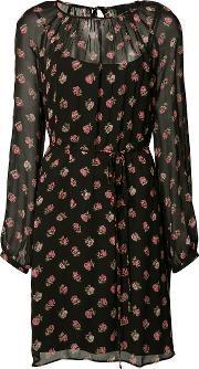 Prarie Dress Women Polyester 0, Black