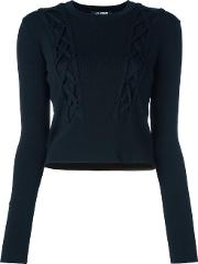 Cable Knitted Jumper Women Nylonrayonviscose Xs, Black