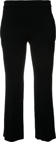 Cropped Trousers Women Cottonpolyesteracetate 38, Black