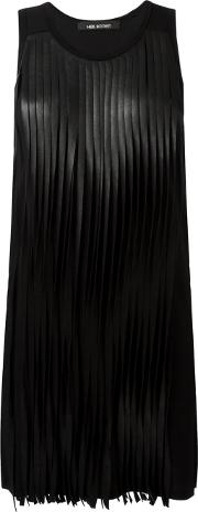 Fringed Dress Women Cottonpolyamidepolyurethaneacetate S, Black