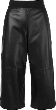 Leather Culottes Women Leatherpolyesterviscose