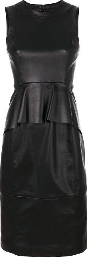 Peplum Waisted Leather Dress