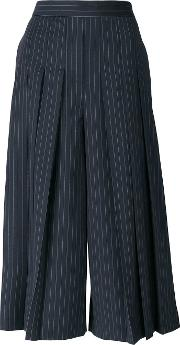 Pinstriped Tailored Culottes