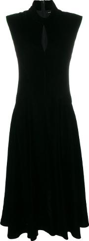 Velvet Low High Hem Dress
