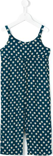 Blurred Dots Overall Kids Rayonviscose 12 Yrs, Blue