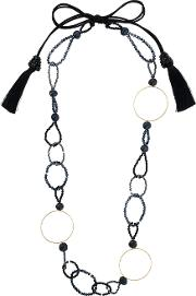 Bead And Ring Long Necklace