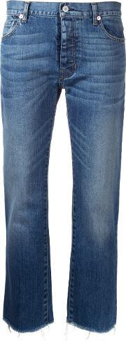 Cropped Jeans Women Cottonpolyurethane 30, Women's, Blue