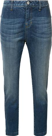Cropped Jeans Women Cottonspandexelastane 29, Blue