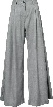 Flared High Waisted Trousers