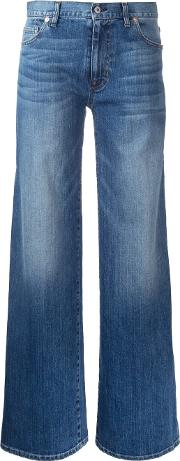 Flared Jeans Women Cotton 27, Blue