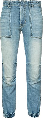 Gathered Ankle Jeans Women Polyurethanecotton 29
