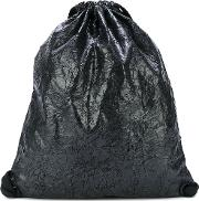 No Ka' Oi Crinkled Drawstring Bag Women Polyesteracetateviscose One Size, Black