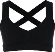 No Ka' Oi Crossed Back Sports Bra Women Polyamidespandexelastane 1, Black