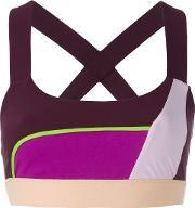 No Ka' Oi Hina Sports Bra Women Polyamidespandexelastane 2, Women's, Purple