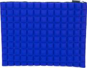 No Ka' Oi Textured Zipped Clutch Women Polyamidespandexelastane One Size, Blue
