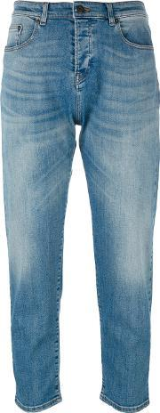 Faded Cropped Jeans Women Cottonpolyesterspandexelastane 26
