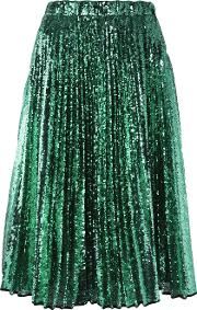 Sequined Pleated Skirt Women Silkpolyester 40