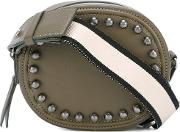 Studded Crossbody Bag Women Leathermetal Other One Size, Green