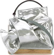 Tote Women Patent Leather One Size, Grey