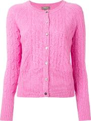 N.peal Cashmere Cropped Cable Cardigan Women Cashmere S, Pinkpurple