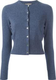 N.peal Cashmere Cropped Cardigan Women Cashmere Xs, Blue