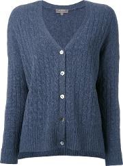 N.peal Cashmere Oversize Box Cable Cardigan Women Cashmere M, Blue