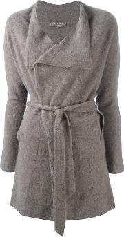 N.peal Cashmere Wrap Cardigan Women Cashmere S, Grey