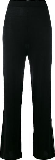 N.peal Contrast Trim Knitted Pyjama Trousers Women Cashmeresilk S, Black