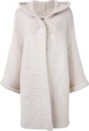 N.peal Ribbed Detail Cardi Coat Women Cottoncashmere One Size, Nudeneutrals