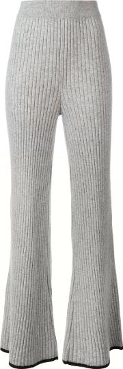 N.peal Ribbed Detail Pants Women Cashmere S, Grey