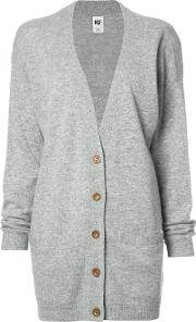 Long Cardigan Women Cashmerewool M, Grey