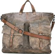 Shoulder Bag Men Leather One Size, Brown