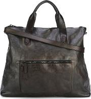 Woodstock Tote Men Leather One Size, Brown