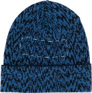 Oamc Cable Knit Beanie Men Viscosecashmerevirgin Wool M, Blue