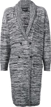 Double Breasted Cardigan Women Acrylicwool Xs, Women's, Black