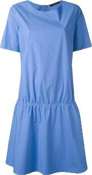 Drop Waist Dress Women Cotton 40, Women's, Blue