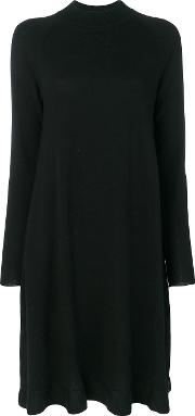 Odeeh Crew Neck Knitted Dress Women Virgin Wool 36, Black