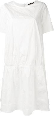 Pleated Dress Women Cottonspandexelastane 38, Women's, White