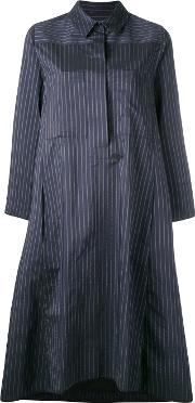Striped Dress Women Cottonpolyester 36, Women's, Blue