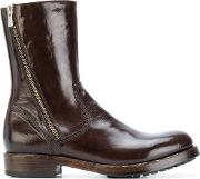 Officine Creative Ankle Boots Women Buffalo Leathercalf Leatherrubber 39.5, Brown