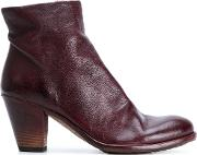 Officine Creative Ruched Ankle Boots Women Leatherrubber 40, Brown
