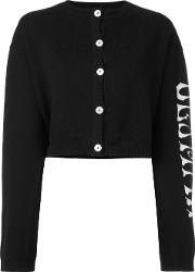 Olympia Le Tan Griffin Cardigan Women Cotton S, Black