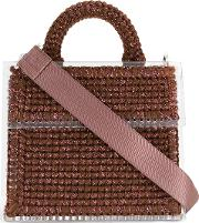 711 Excelsior Palace Copacabana Shoulder Bag Women Acrylic  Size, Brown