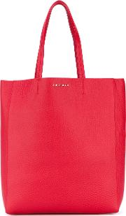 Shopper Tote Women Leather One Size, Red