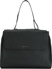 Top Handle Tote Women Leather One Size, Women's, Black