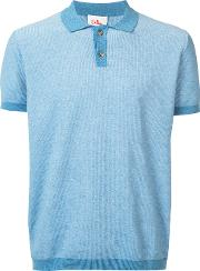Classic Polo Shirt Men Cotton M, Blue