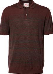 Striped Polo Shirt Men Merino M