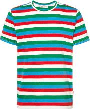 Striped T Shirt Men Cotton M